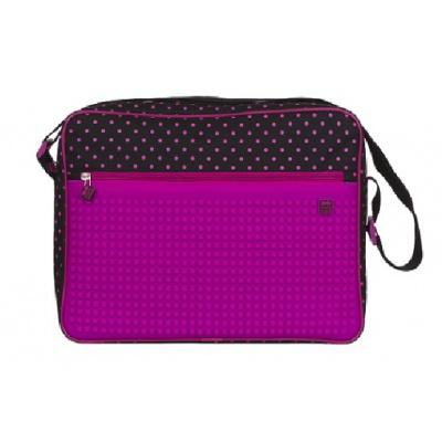 Kreative Pixel Umhängetasche schwarz und rosa PXB-04-L15
