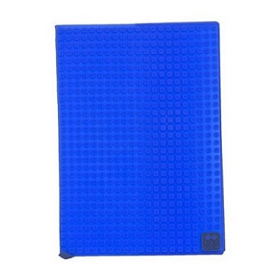Kreatives Pixel Notizbuch mit Umschlag in blau PXN-01-13