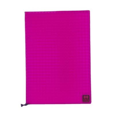 Kreatives Pixel Notizbuch mit Umschlag in violett PXN-01-15
