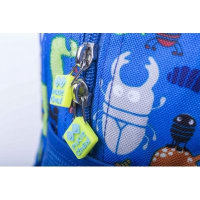 Kreativer Pixel Kinderrucksack Käfer/weiß im Dunkeln leuchten PXB-18-03