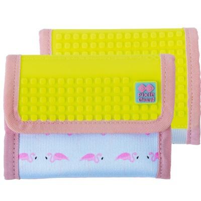 Kreative Pixel Geldbörse PIXIE CREW Flamingos mit gelb  PXA-10-14