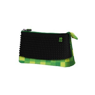 Kreative Pixel Schulfedermappe in grün/ schwarz PXA-02-D24