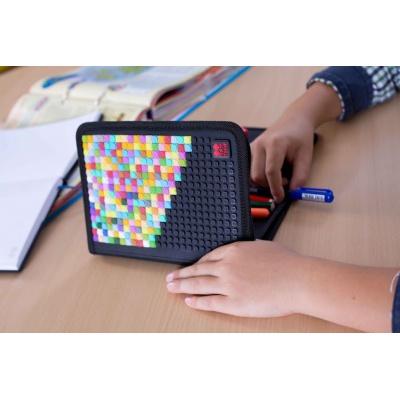 Kreative Pixel Schulfedermappe schwarzes ABC PXA-04