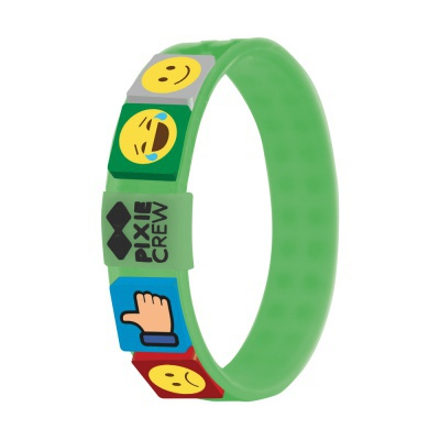 Kreatives Pixel Armband in grün