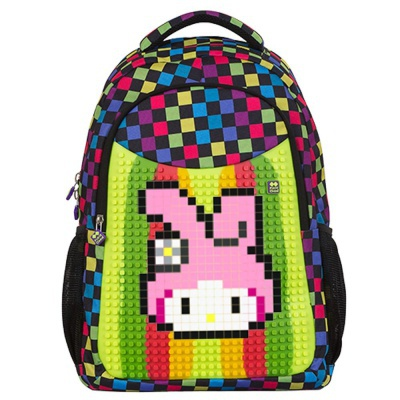 Kreativer Pixel Schulrucksack mit Federmappe multicolor PXB-16-01