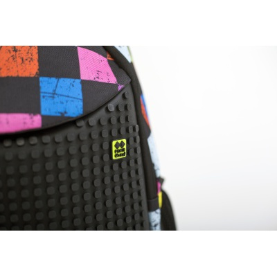 Kreativer Pixel Schulrucksack Bunter Würfel PXB-06-Y24