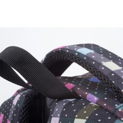 Kreativer Pixel Schulrucksack mit Federmappe bunt karriert PXB-16-05