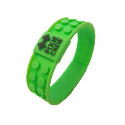 Kreatives Pixel Armband grün - Fussball