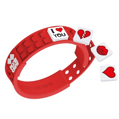 Kreatives Pixel Armband rotes - Love
