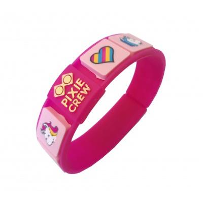 Kreatives Pixel Armband fuchsia - Einhorn