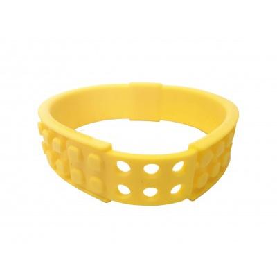 Kreatives Pixel Armband gelb