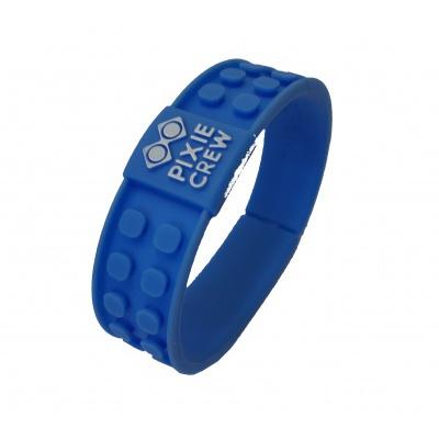 Kreatives Pixel Armband in blau