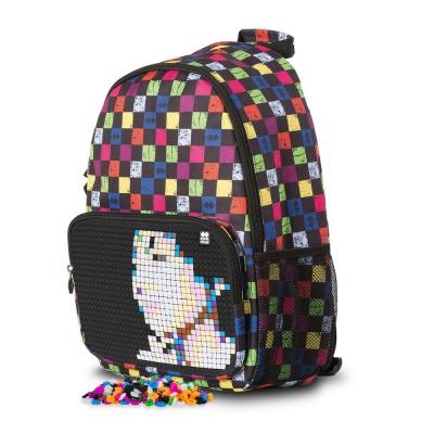 Kreativer Pixel Freizeitrucksack bunter Würfel/schwarz PXB-02-Y24