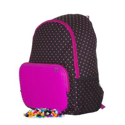 Kreativer Pixel Freizeitrucksack in schwarz und rosa PXB-02-L15